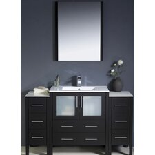 "Torino 54"" Modern Bathroom Vanity Set with 2 Side Cabinets and Undermount Sink"