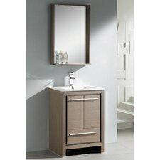"Allier 24"" Single Modern Bathroom Vanity Set with Mirror"