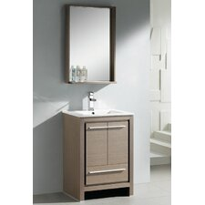 "Allier 23.5"" Modern Bathroom Vanity Set with Mirror"