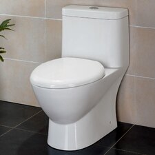<strong>Fresca</strong> Serena Dual Flush Elongated 1 Piece Toilet