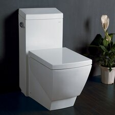 <strong>Fresca</strong> Apus Square 1.6 GPF Elongated 1 Piece Toilet with Soft Close Seat