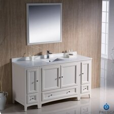 "Oxford 60"" Traditional Bathroom Vanity Set with Single Sink"