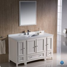 "Oxford 54"" Traditional Bathroom Vanity Set with Single Sink"