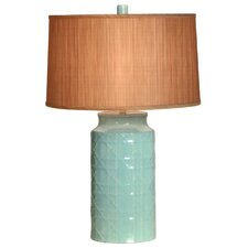 "Cane Vase 26"" H Table Lamp with Drum Shade"