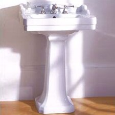 Pomezia Pedestal Bathroom Sink Set