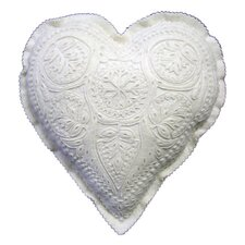 <strong>The Sandor Collection</strong> Great Plain Hungarian Motif Heart-Shaped Pillow