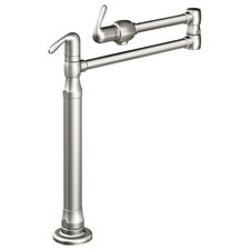 Ladylux3 Deck Mount Pot Filler in Stainless Steel