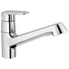 <strong>Grohe</strong> Europlus Pull-Out Single Handle Single Hole Kitchen Faucet with Watercare