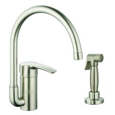 Eurostyle Single Handle Single Hole Kitchen Faucet with Side Spray with Watercare