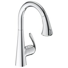 Ladylux3 Eco Friendly One Handle Single Hole Kitchen Faucet with Dual Spray Pull Down