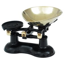 Scale & Pear Shaped Brass Pan in Black