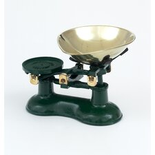 Scale and Pear Shaped Brass Pan in Green
