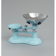 Scale with Chromed Brass Pan in Pale Blue