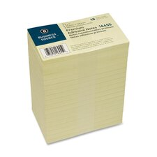 "Adhesive Note Pads, Pop-up, 3""x5"", 100 Sheets, 18 per Pack, Yellow"