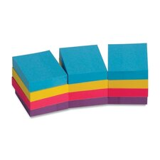 "Adhesive Notes,Plain,1-1/2""x2"",100 Sheets per Pad,12 Pads per Pack,Extreme"