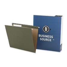 <strong>Business Source</strong> Hanging Folder, 1/3 Tab Cut, Letter, Standard Green