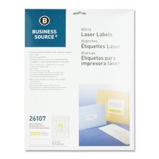 "<strong>Business Source</strong> Mailing Labels, Return Address, Laser, 1/2""x1-3/4"", 2000 per Pack, White"