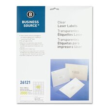"<strong>Business Source</strong> Laser Labels, Return Address, 1/2""x1-3/4"", 2000 per Pack, Clear"