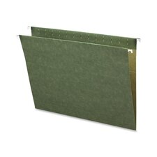 Hanging Folders, w/o Tabs, Letter, 25 per Box, Green