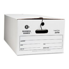 "Storage Box, Legal, 15""x24""x10"", Whitem, 12-Pack"