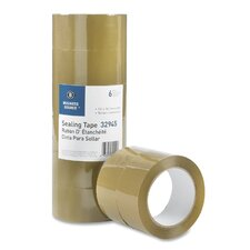 "Packing Tape, 3.54mil, 3"" Core, 1-7/8""x164', 6 per Pack, Tan"