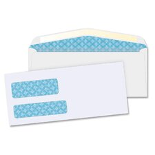 "Double Window Envelopes,No. 9,3-7/8""x8-7/8"",500 per Box,White"