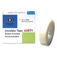 "Transparent Tape, Refill, 1"" Core, 1/2""x1296"", Clear"