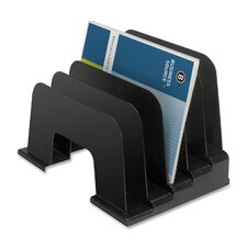 "<strong>Business Source</strong> Large Step Organizer, 9-1/8""x9""x13-3/8"", Black"