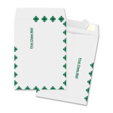 "Open End Envelopes,First Class,9-1/2""x12-1/2"",100 per Box,White"