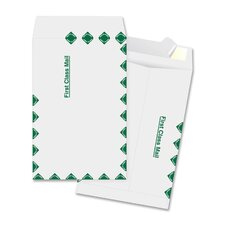 "Catalog Envelopes, First Class, 6"" x 9"", 100 per Box, White"