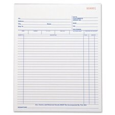 <strong>Business Source</strong> 50 Sheet All-Purpose Triplicate Form Book