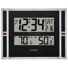 "11"" WWVB Digital Clock with Temperature"