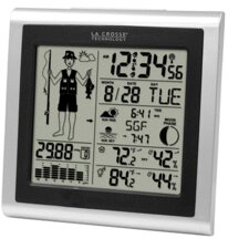 Wireless Forecast Station with Fisherman Icon