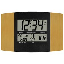 Atomic Digital Wall Clock with Temp and Moon Phase
