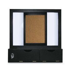 Mastervision Mastervision Combo Dry Erase And Cork Station with Storage