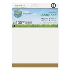 "Earth It! Self-stick Easel Pad, Plain, 25""x30"", 30 Sh/PD, 2/PK, White"