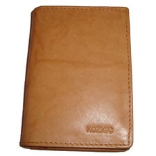 Leather Card and ID Wallet in Tan