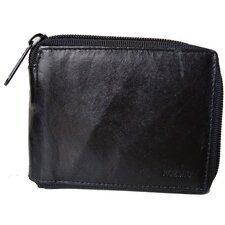 <strong>Kozmic</strong> Leather Zip-A-Round Bifold Wallet in Black