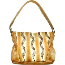 Genuine Leather Printed Tote