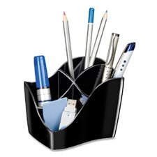 "<strong>Cep</strong> Desktop Organizer,4 Compartments,4-3/5""x3-1/2""x3-4/5"",Black"