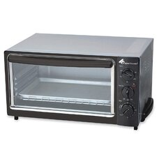 "Toaster Oven, 16""x12""x10"", Stainless Steel, Black"