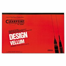 Clearprint Design Vellum Paper, 16Lb, 50 Sheets/Pad