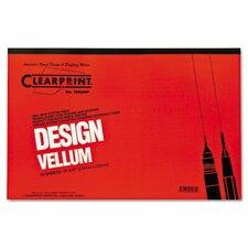 Clearprint Design Vellum Paper, 16Lb, 50 Sheets/Pad