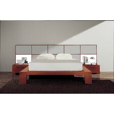 Wynd Bed with Wood Panels