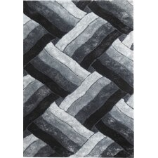 Glam Black/White Area Rug