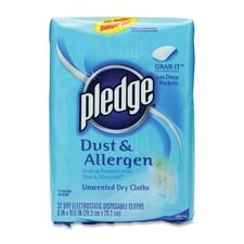 Refill for Pledge Grab-It, Dry Disposable Cloths, 32/Pack