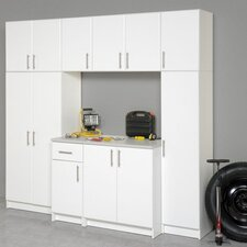 Elite Storage 5' H x 3' W x 2' D 7 Piece Garage/Laundry Room Cabinet