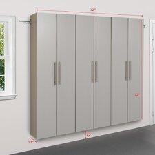 HangUps 6' H x 6' W x 1.33' D 3 Piece Storage Cabinet C Set