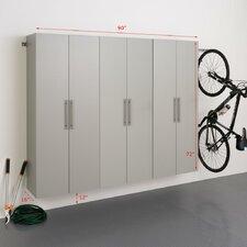 HangUps 6' H x 7.5' W x 1.33' D 3 Piece Storage D Cabinet Set