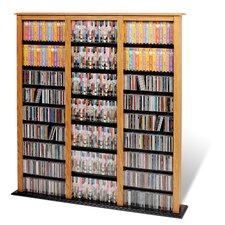 <strong>Prepac</strong> Floor Media Triple Width Barrister Multimedia Storage Rack